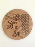 Stitch & Sip Coaster from Retromantic Fripperies