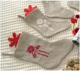 Christmas Clock Stockings from StitchyBox Samplers
