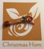 Angel Horn Button for Shepherd's Bush chart in Just CrossStitch Ornaments Magazine 2014
