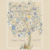 Baby Boy Tree Birth Announcement from Shannon Christine Designs
