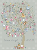 Baby Girl Tree Birth Announcement from Shannon Christine Designs