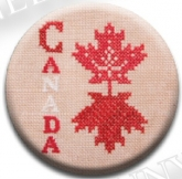 Canadian Patriotic Snippet #2 Needle Nanny/Stitch Dot ~ Jeannette Douglas Designs ~ Zappy Dots