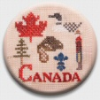 Canadian Patriotic Snippet #1 Needle Nanny/Stitch Dot ~ Jeannette Douglas Designs ~ Zappy Dots