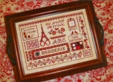 Broderie a Paris ~ Tray Design & Needlebook from Sue Hillis Designs ~ Nashville 2017