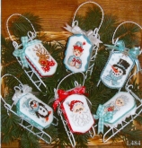 Christmas Friends ~ Sleds from Sue Hillis Designs ~ Nashville 2017
