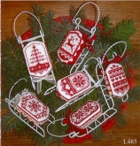 Christmas in Red ~ Sleds from Sue Hillis Designs ~ Nashville 2017