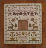 Hannah Tingey 1823 Reproduction Sampler from the Scarlett House