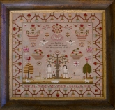 Martha Pudsey 1835 ~ Reproduction Sampler from  the Scarlett House ~ Nashville 2017