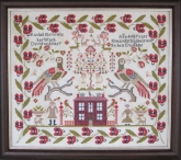 Rachel Howells 1856 Reproduction Sampler from the Scarlett House