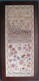 Dorothy Walpole 1774 Reproduction Sampler from the Scarlet Letter