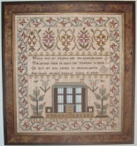 Helen Vertue 1812 Scottish Reproduction Sampler from the Scarlet Letter