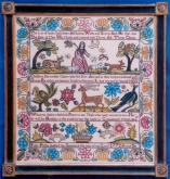 Polly Phillip 1772 Reproduction Sampler from the Scarlet Letter