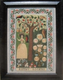 Ruthy Rogers Reproduction Sampler from the Scarlet Letter