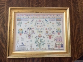 Anna Greta Danielsdotter ~ Swedish Sampler 1850 by Samplers Remembered