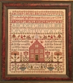 Lucy Snushall 1847 Reproduction sampler from Samplers Remembered