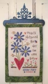 Hearts Blossomed Birth Sampler from SamSarah Design Studio