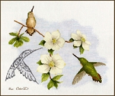 Dogwood & Hummingbird from Sue Coleman / Stitching Studio