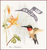 Hummingbird from the Stitching Studio / Sue Coleman