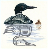 Loon & Chick from Sue Coleman / The Stitching Studio