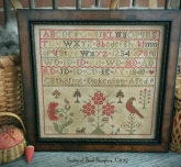 Catharine Dickenson 1840 ~ Reproduction Sampler from Scattered Seed Samplers