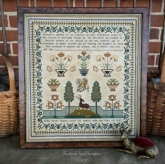 Lydia Barnes Pidgeon 1827 ~ Reproduction Sampler from Scattered Seed Sampler