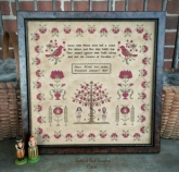 Mary Wood 1837 Reproduction Sampler from Scattered Seed Samplers