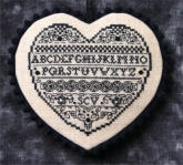 Blackwork Heart ~ Chart & Embellishments from the Sweetheart Tree ~ 3 only!