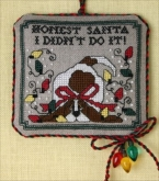 Honest Santa...I Didn't Do It chart & embellishments from the Sweetheart Tree