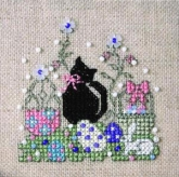 Itty Bitty Kitty Easter Teenie Tweenie chart & embellishments from the Sweetheart Tree
