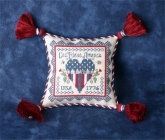 Patriotic Pincushion Teenie Tweenie ~ Chart & Charms from the Sweetheart Tree ~ 1 only ~ Save 25%!