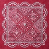 Whitework Lace Teenie Tweenie Charts & Charms from The Sweetheart Tree