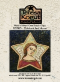 Work of Heart ~ Outstretched Arms Cross Stitch from Teresa Kogut ~ Available Soon!