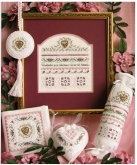 Close at Heart chart & thread pack from Victoria Sampler ~ 2 only!