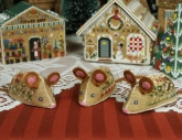 Gingerbread Mice Ornaments from Victoria Sampler
