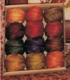 Valdani hand dyed cotton floss thread pack for Rosewood Manor Autumn Quakers ~ 12 balls
