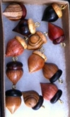 Acorn Charms from Unique Wood Gifts by Wray Parsons