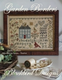 Garden Borders ~ Abecedarian Series Chart #12 ~  Loose Feathers 2013 from Blackbird Designs