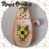 Stitch In Wood Cat kit from Romy's Creations