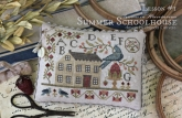 Summer Schoolhouse ~ Lesson #1 in Abecedarian ~ Country Stitches/Brenda Gervais